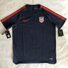 Nike Team Usa 2018 Breathe Squad Training Soccer Jersey Top Xl Navy 893289-410