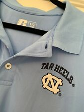Russell Mens Unc Tarheels Golf Polo Shirt Fit Dri Size Large