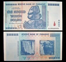 1 x Zimbabwe 100 Trillion dollar banknote-2008/AA /authentic/ uncirculated