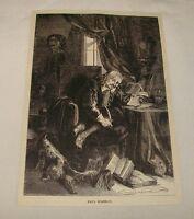 1887 magazine engraving ~ PAUL SCARRON, Dramatist