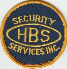 HBS SECURITY SERVICES INC. SHOULDER PATCH