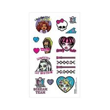 Monster High Childrens Birthday Party Loot Favor Tattoos
