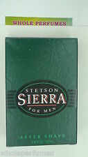 STETSON SIERRA FOR MEN AFTER SHAVE LOTION 4.4 OZ / 130 ML NEW IN BOX AS PICTURED