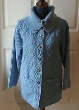Blue Willi's Women's Snap Cotton Coat Jacket Made in Denmark Lt Blue Denim Large
