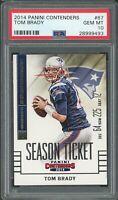 Tom Brady New England Patriots 2014 Panini Contenders Football Card #67 PSA 10