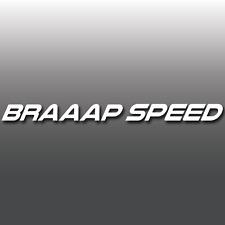 FUNNY Braaap velocità motore rotativo JDM Auto Finestra Adesivo decalcomania in vinile PARAURTI