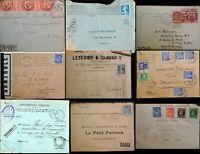 France French 1900 - 1950 9 Covers Paris Postmarks Express Petit Parisien