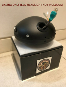 "7"" Inch Motorbike Headlight CASING ONLY for ANY 7"" LED Headlamp Black SLIM"