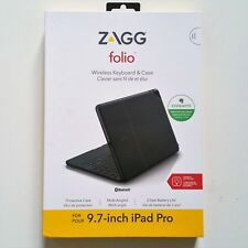 ZAGG Folio Case with Backlit Keyboard for Apple 9.7 inch iPad Pro Black New OEM
