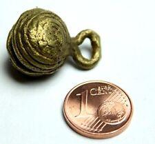 1 Stück Ashanti Tanzschelle Ghana Akan brass beads lost wax process