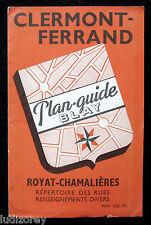CLERMONT-FERRAND PLAN 1954 GUIDE BLAY CARTOGRAPHIE RUE AUVERGNE PUY-DE-DÔME 63