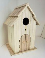 "Artmindsâ""¢ Unfinished Wood Outside Birdhouse w/ Hinged Doors -11"" H x 7"" W x 6"" D"