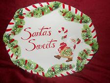 Cookies for Santa Candy Cane Santa Plate Santa's Sweets Fitz and Floyd Nib