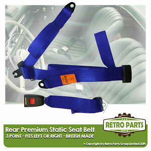 Rear Static Seat Belt For Nissan Sunny Estate 1990 Shape Blue