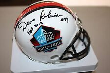 GREEN BAY PACKERS DAVE ROBINSON SIGNED WHITE HALL OF FAME MINI HELMET HOF 2013