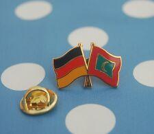 Freundschaftspin Deutschland Malediven Pin Anstecker Button Badge Sticker