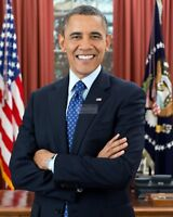 11X14 PHOTO BARACK OBAMA  44TH PRESIDENT OF THE UNITED STATES LG-032