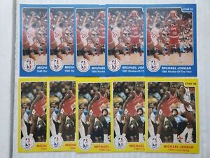 Lot of 10 Michael Jordan Star '85 '86 Rookie Reprints cards Nr Mint💥💥