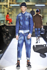 DSQUARED2 2014 RUNWAY COLLECTION UNIQUE MEN'S DENIM JACKET ITALY SIZE 48 / S-M