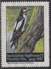 German Poster stamp: 1911 Society of Bird Friends, Frankfurt, est.1867- cw47.39