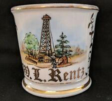 Original Ohio Oil Well Antique Occupational Shaving Mug