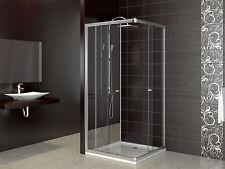 Duschkabine Duschtasse Schiebetür Duschabtrennung Duschwanne Dusche 90x90 cm