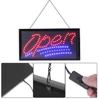 Flashing Motion LED Shop Sign Board Neon Light Window Door Hang Open Sign US