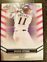 2018 Leaf Rare PINK Parallel Insert #/10 Shohei Ohtani Rookie and Mike Trout RC