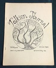 "Rare 1966 ""Tolkien Journal"" vol. 2 #4 Hobbit - Lord of the Rings Fanzine J.R.R."