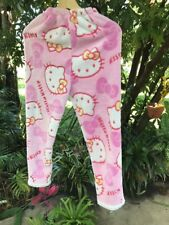 Shifenzira Hello Kitty's Juniors L  White & Pink Plush Soft Pajama Lounge Pants