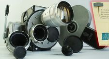 3 LENS, teleconverter 2x, Pentaflex 16 (Zeiss Ikon) AK16 Film Camera 16 mm