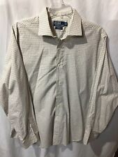 Polo Ralph Lauren Men's White Striped Button Up Dress Shirt Size Sz 2XL XXL