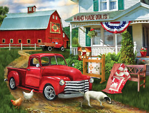 STOPPING AT THE FARM  by TOM WOOD - SunsOut 500 piece puzzle  - NEW