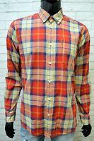 BARBOUR Uomo Camicia Taglia M Maglia Manica Lunga Camicetta Casual Shirt