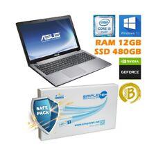 "COMPUTER PORTATILE NOTEBOOK ASUS F550CC I5 15,6"" 12GB 480GB NVIDIA GAMING GPU-"