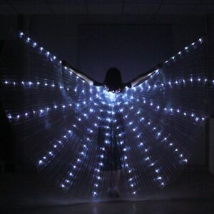 LED Lights Angel Isis Wings Belly Dance Egyptian Isis Wing Glowing Wings Costume