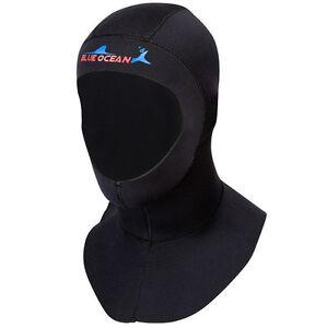 3mm Neoprene Scuba Diving Bibbed Hood Warm Cap Divers Cap Hood Black Neck Cover