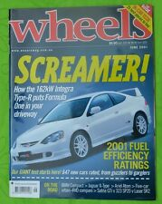 Wheels Jun 2001 Honda Integra Type S Jaguar X-Type 2.5 Ford Laser SR2, 323 SP20