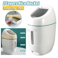 10L Rice Storage Bucket Box Kitchen Grains Dry Food Container Keeper Fo