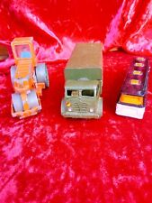 3 X Vintage Dinky Toys - 10 Ton Army Truck - Diesel Roller - Viceroy Coach