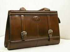 LOUIS FERAUD PARIS Vintage SACS 1Class Brown 100%Leather Pure60/70 Grab Dust bag
