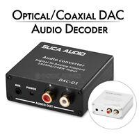 Optical/Coaxial DAC Audio Decoder Digital to Analog Converter 192KHz/24Bit SPDIF