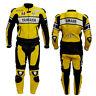 JAUNE Hommes Combinaison de Moto en Cuir Courses Moto en Cuir Veste Pantalon