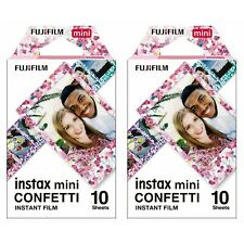 2 Packs 20 Photos Confetti FujiFilm Fuji Instax Mini Film Polaroid SP-2 Liplay