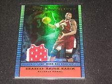 SHAREEF ABDUR RAHIM 2002 TOPPS JERSEY EDITION NBA LEGEND BAKETBALL JERSEY CARD
