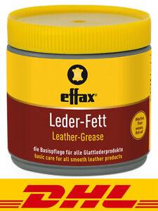 Effax Leder-Fett Lederpflege Lederfett Gelb farblos 500 ml
