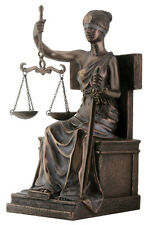 "NEW! 8"" Blind Lady Scales Justice Lawyer Statue Attorney Gift Judge BAR Justitia"