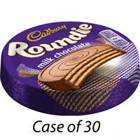 CADBURY ROUNDIE MILK CHOCOLATE BISCUIT 30g x 30 BISCUITS LUNCH BOX SNACKS 227174