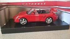 MOTORMAX -  PORSCHE 911 TURBO CABRIOLET  RED PAINT WORK 1:24 SCALE
