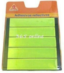 5pk REFLECTIVE  Reflector Safety Stick on Bike Clothing School Bags  Night HiViz